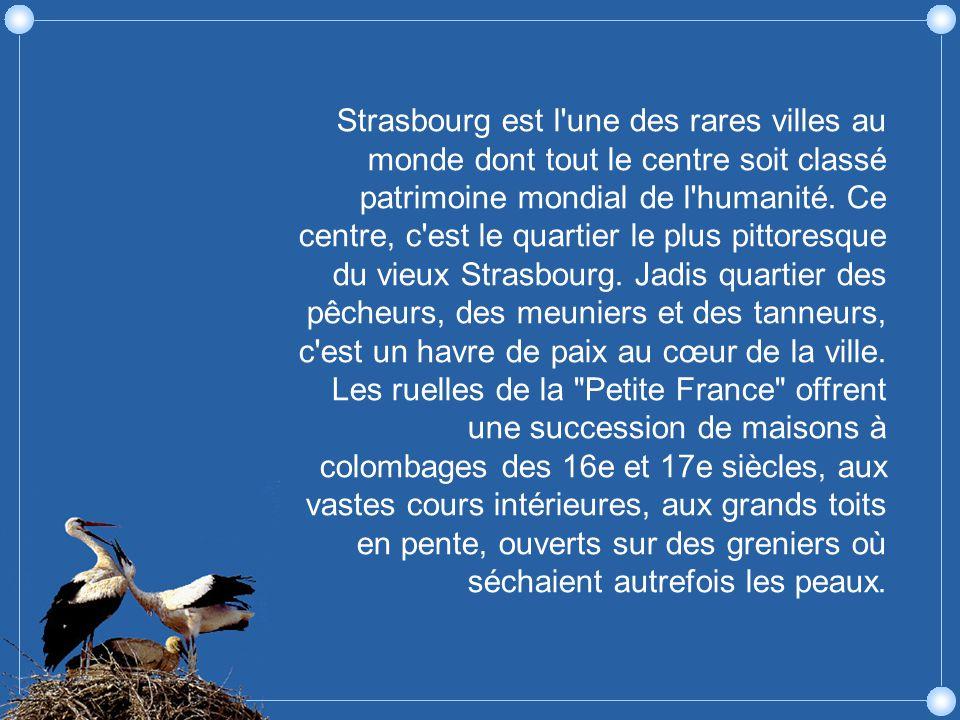 Strasbourg est l une des rares villes au monde dont tout le centre soit classé patrimoine mondial de l humanité.