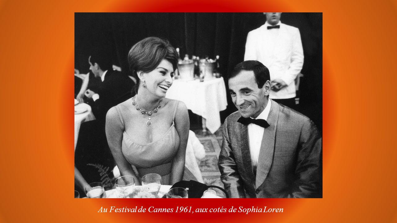 Au Festival de Cannes 1961, aux cotés de Sophia Loren