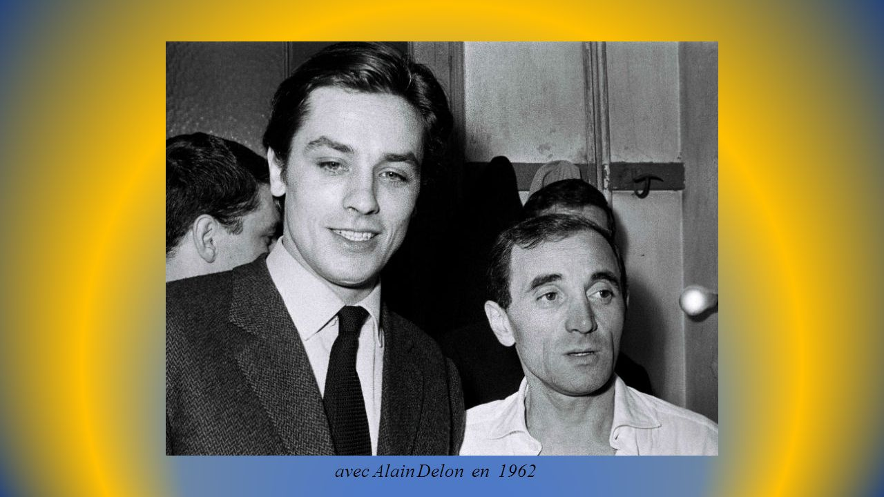 avec Alain Delon en 1962
