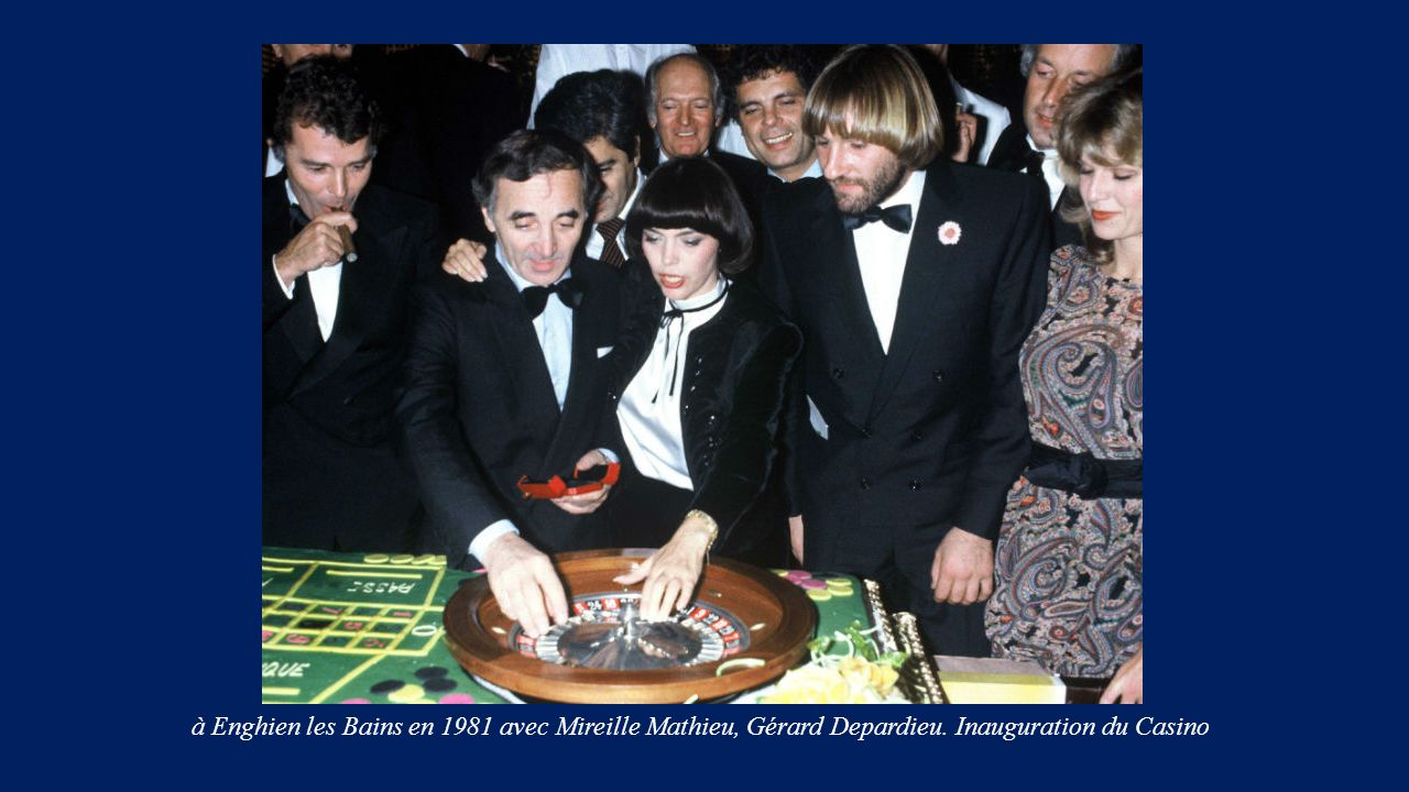 à Enghien les Bains en 1981 avec Mireille Mathieu, Gérard Depardieu