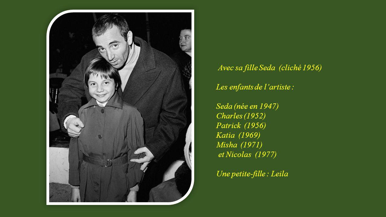 Avec sa fille Seda (cliché 1956)