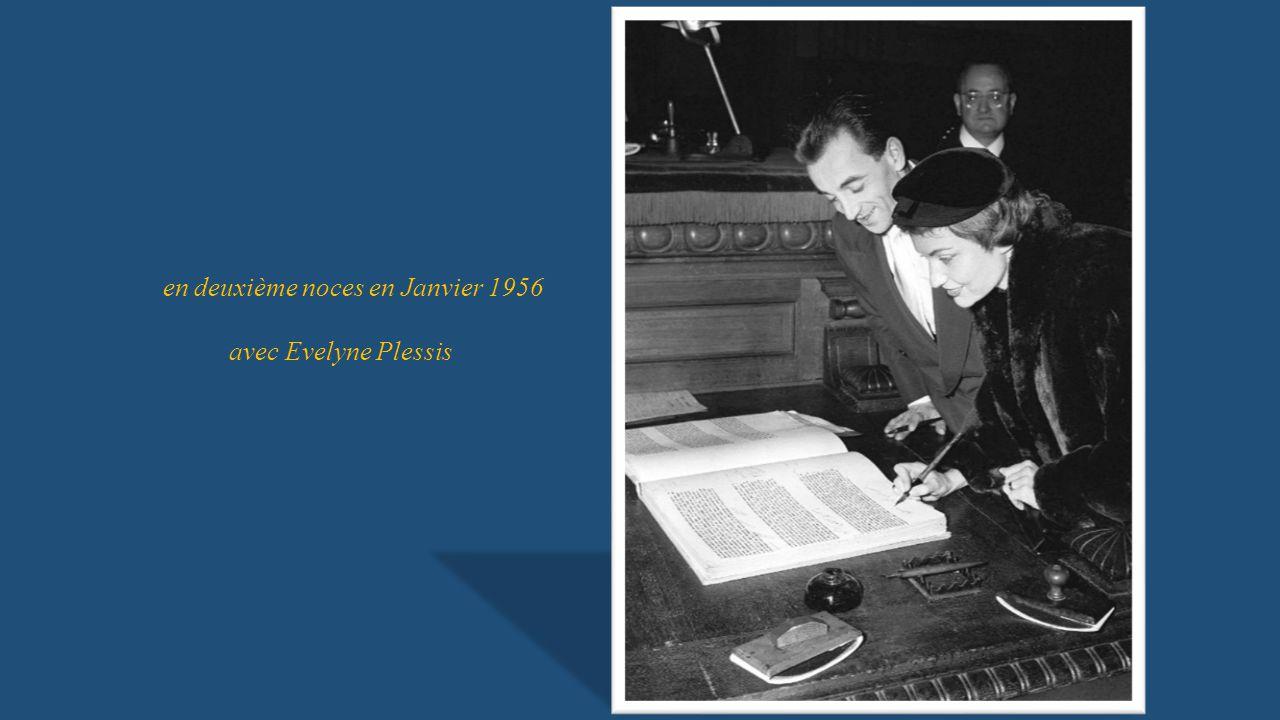 en deuxième noces en Janvier 1956