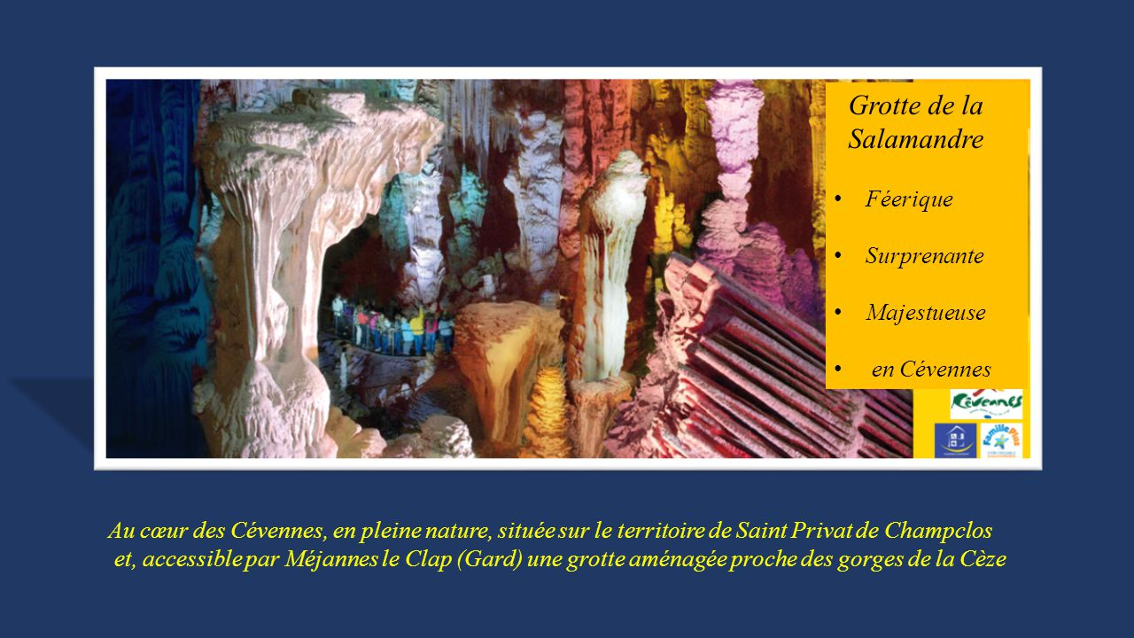 Grotte de la Salamandre Féerique Surprenante Majestueuse en Cévennes