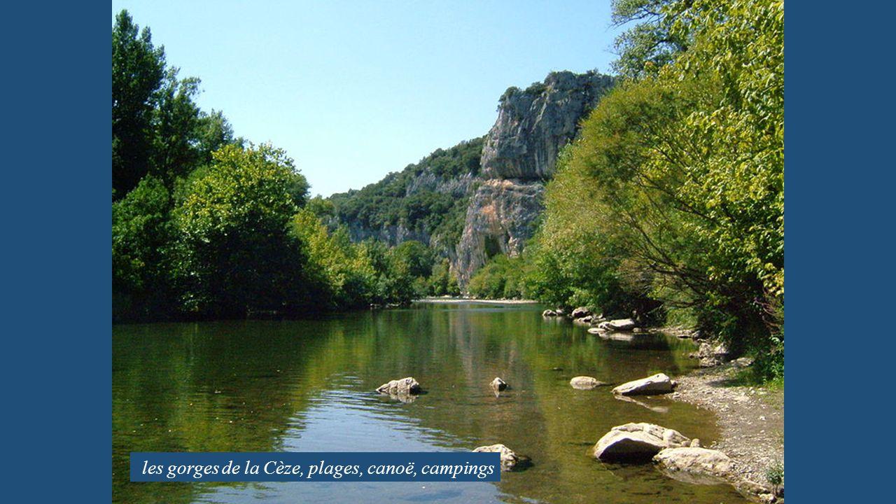 les gorges de la Cèze, plages, canoë, campings