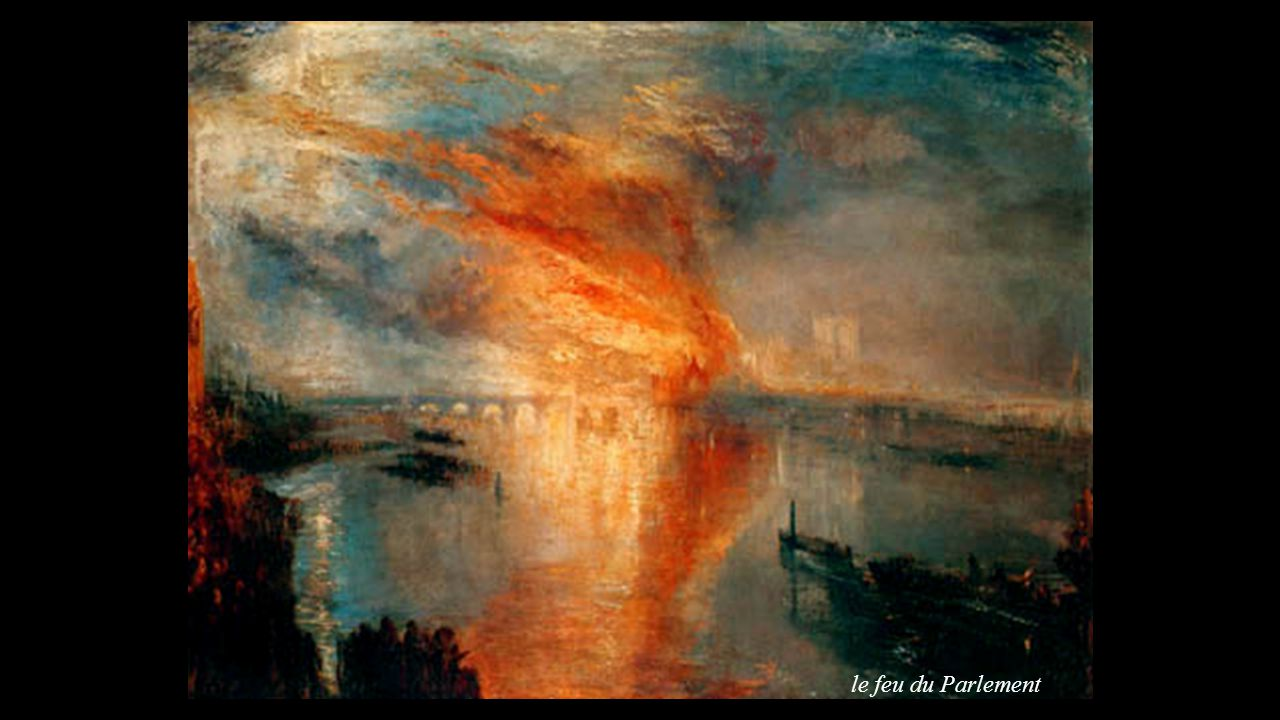le feu du Parlement