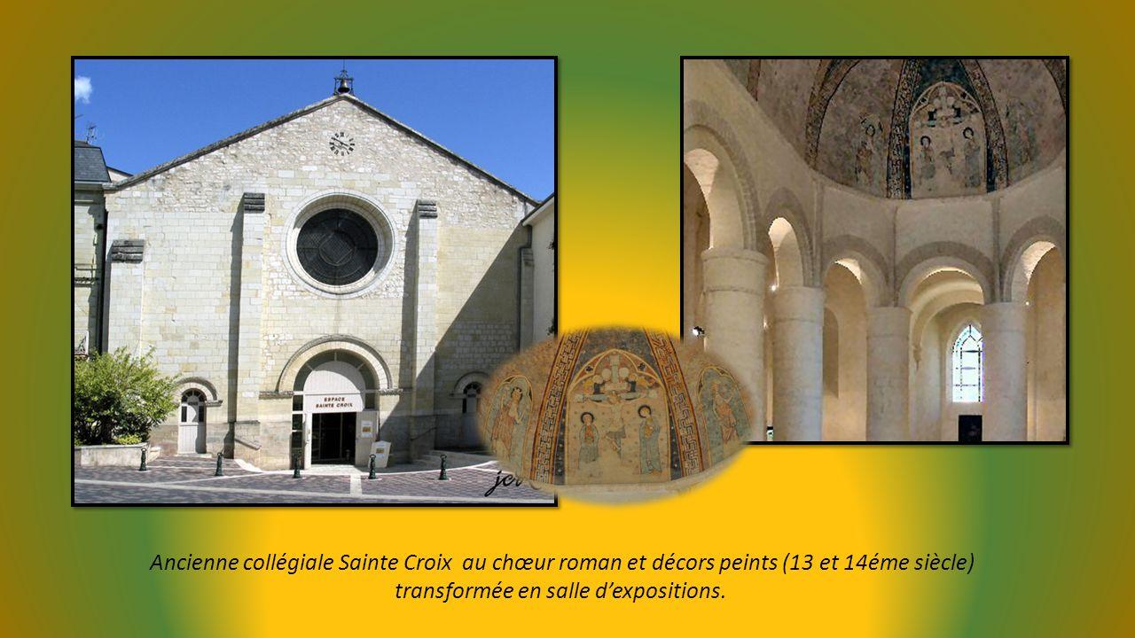 Ancienne collégiale Sainte Croix au chœur roman et décors peints (13 et 14éme siècle)