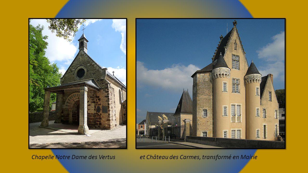 Chapelle Notre Dame des Vertus et Château des Carmes, transformé en Mairie