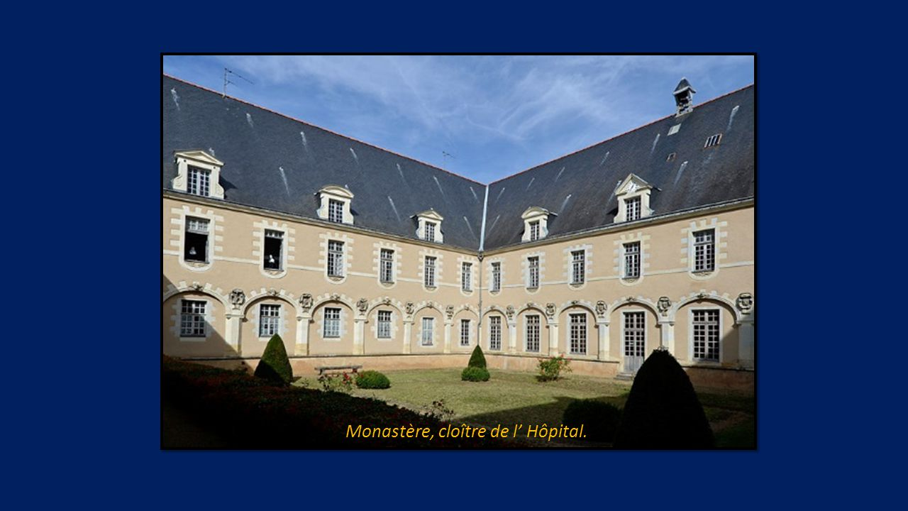 Monastère, cloître de l' Hôpital.