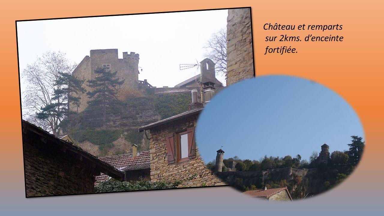 Château et remparts sur 2kms. d'enceinte fortifiée.