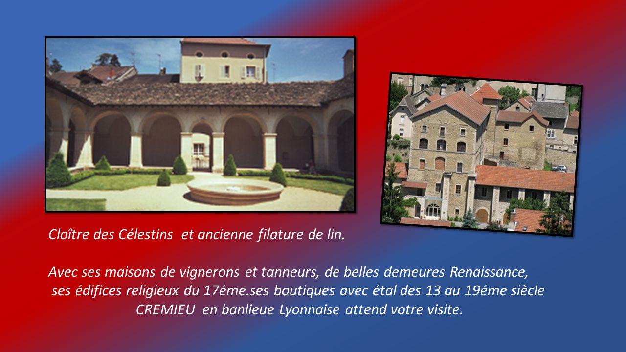 Cloître des Célestins et ancienne filature de lin.