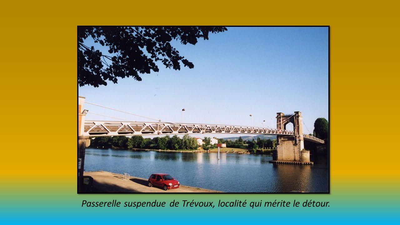 Passerelle suspendue de Trévoux, localité qui mérite le détour.