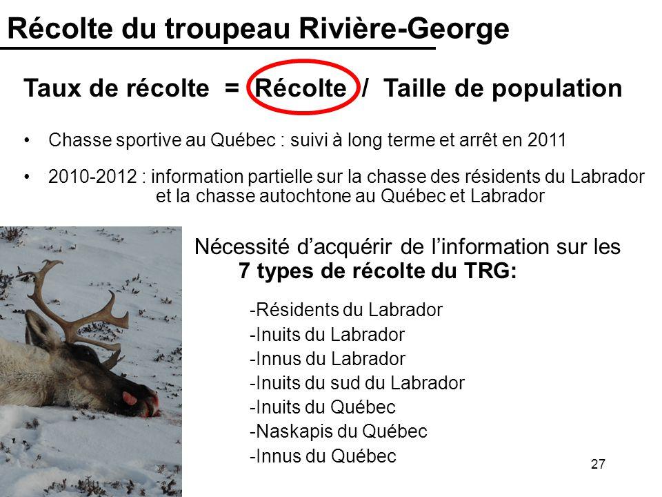 Récolte du troupeau Rivière-George