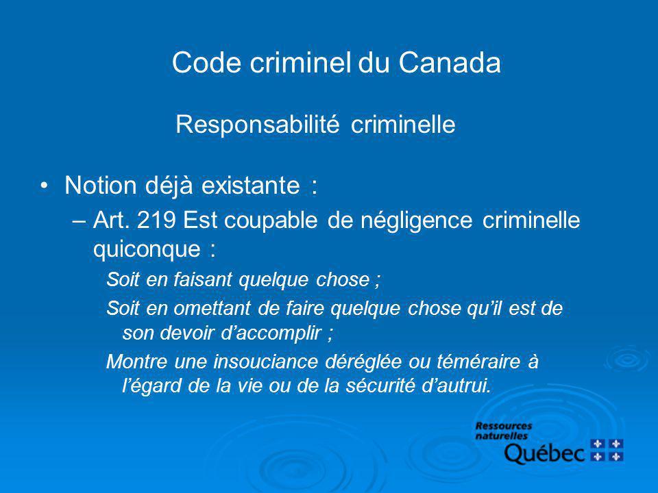 Code criminel du Canada