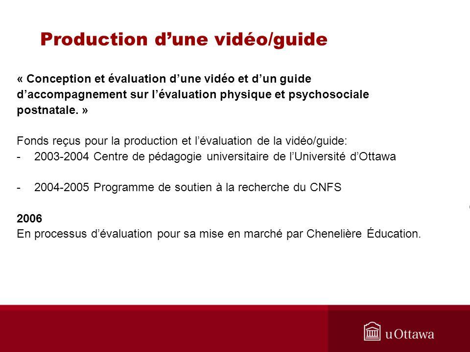 Production d'une vidéo/guide