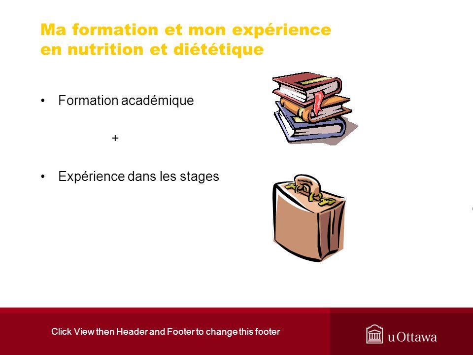 Ma formation et mon expérience en nutrition et diététique