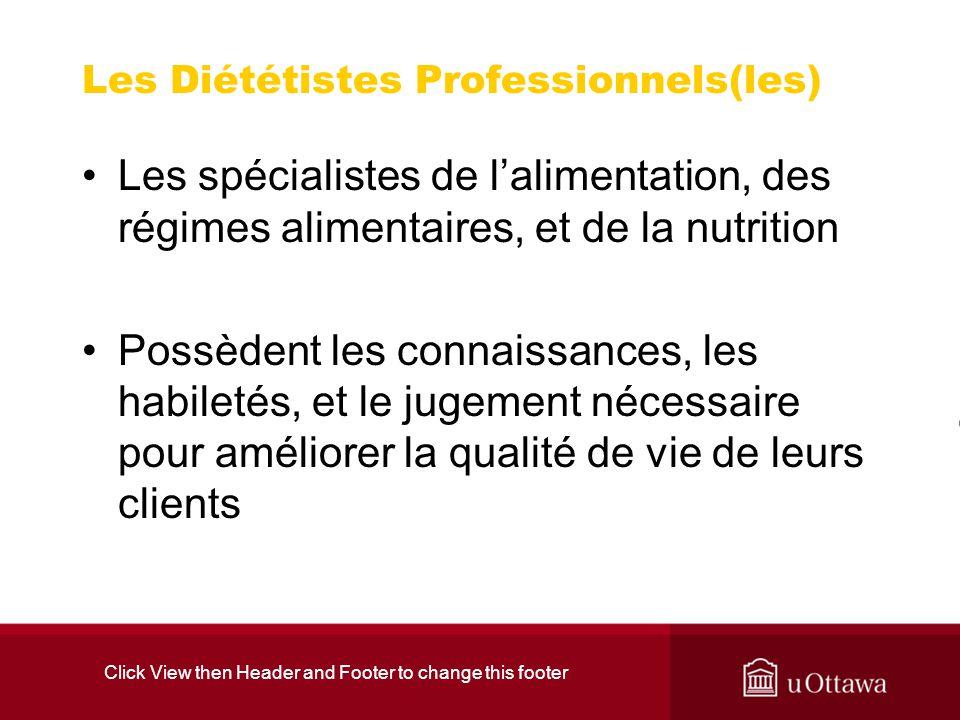 Les Diététistes Professionnels(les)