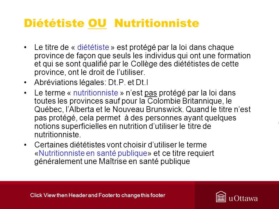 Diététiste OU Nutritionniste