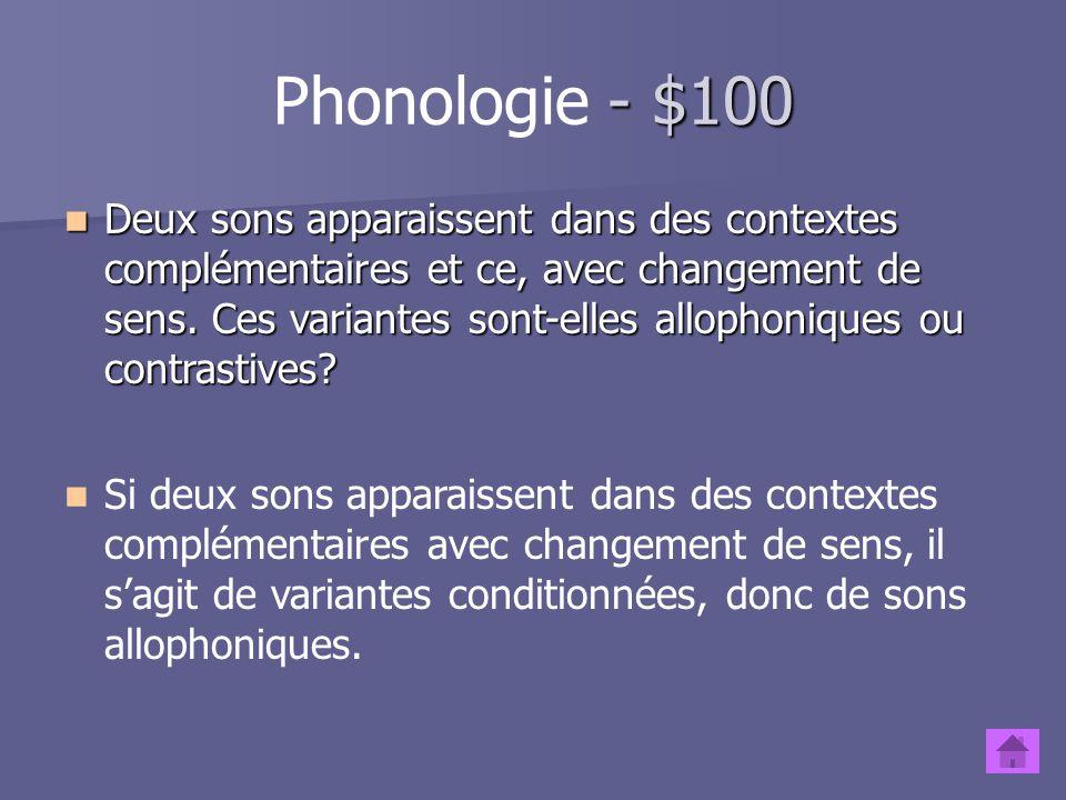 Phonologie - $100