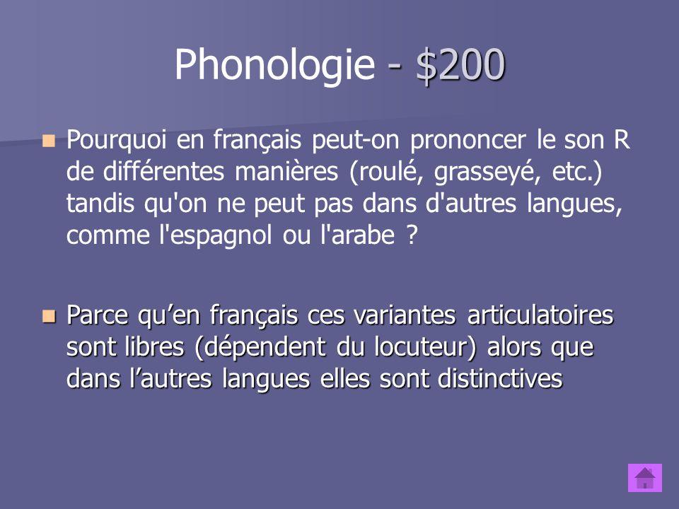 Phonologie - $200