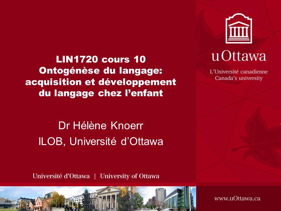 Dr Hélène Knoerr ILOB, Université d'Ottawa