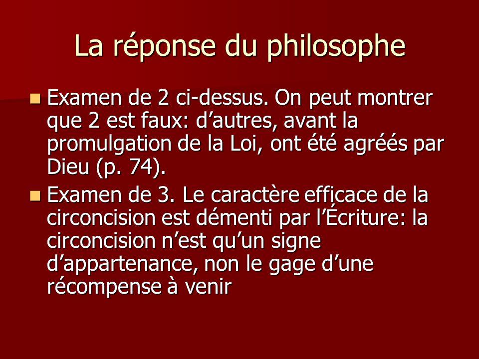 La réponse du philosophe