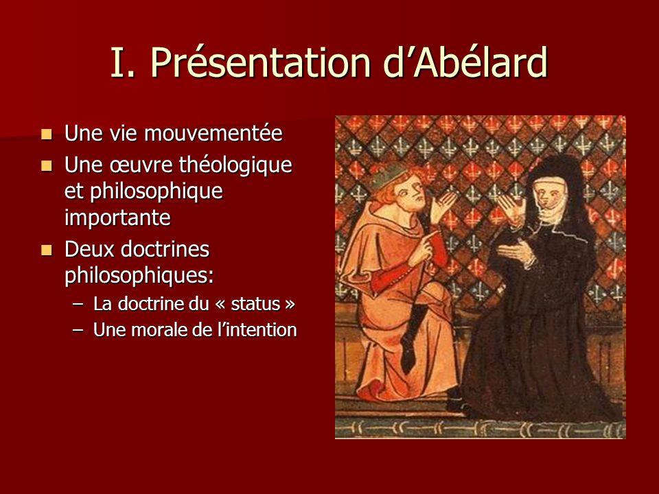 I. Présentation d'Abélard