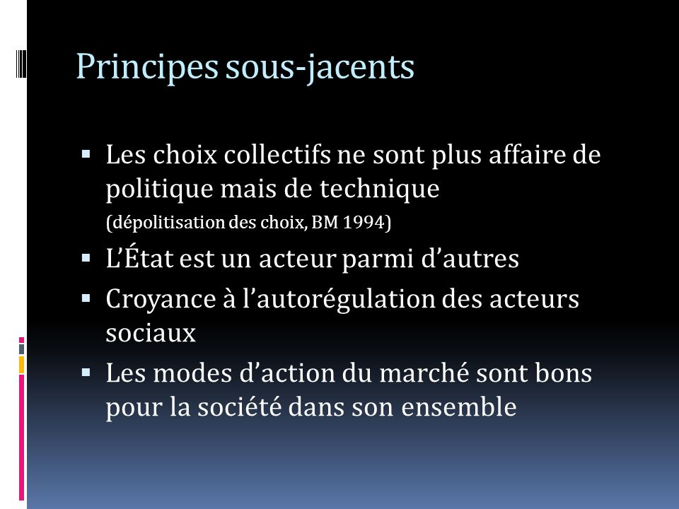 Principes sous-jacents