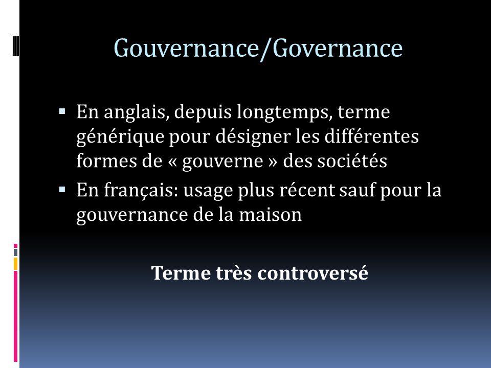 Gouvernance/Governance
