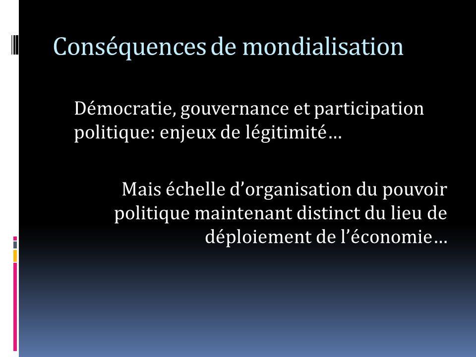 Conséquences de mondialisation