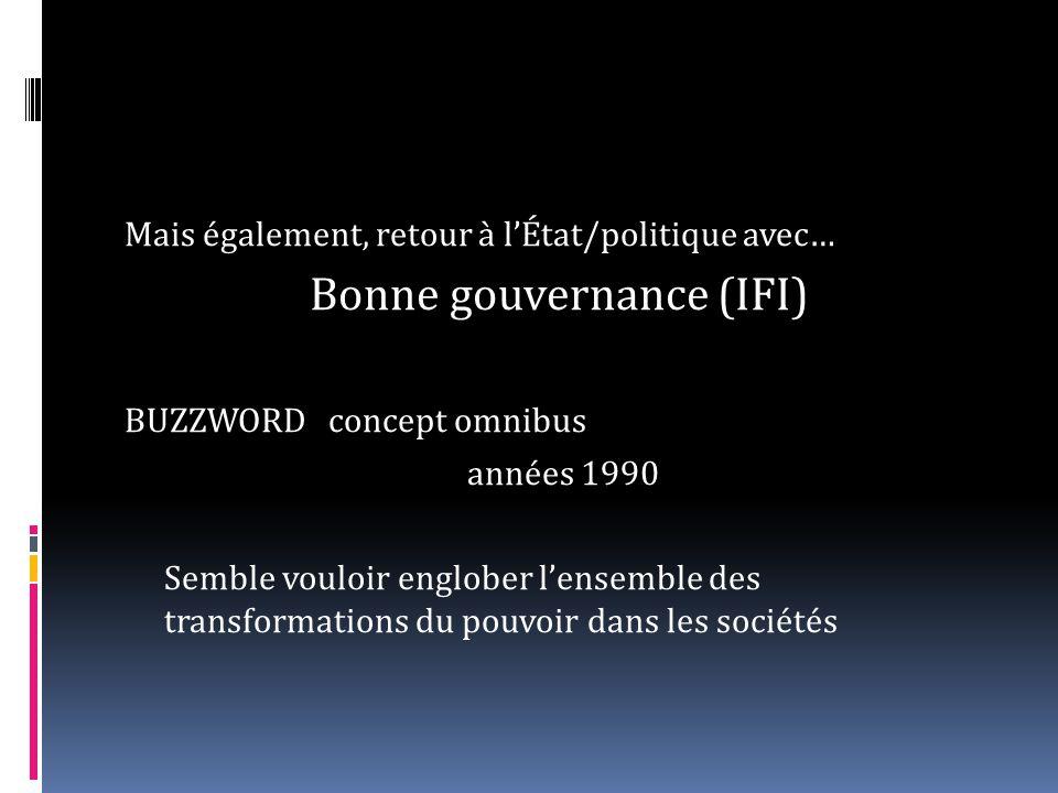 Bonne gouvernance (IFI)