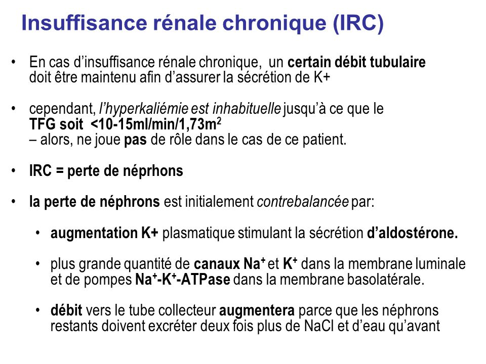 Insuffisance rénale chronique (IRC)