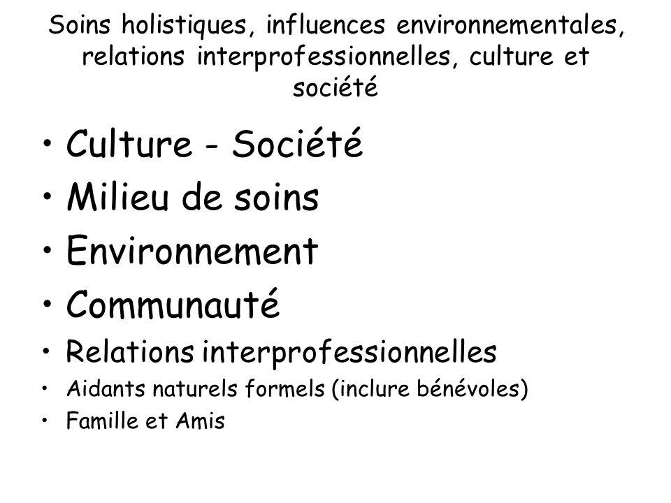 Culture - Société Milieu de soins Environnement Communauté