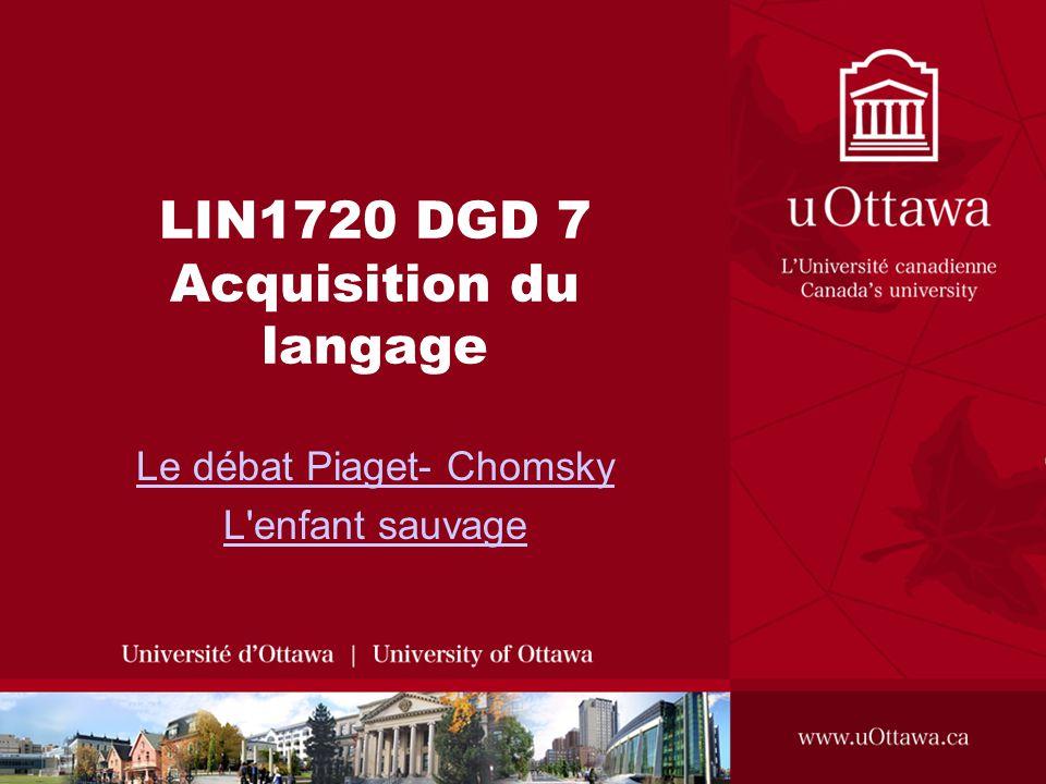 LIN1720 DGD 7 Acquisition du langage