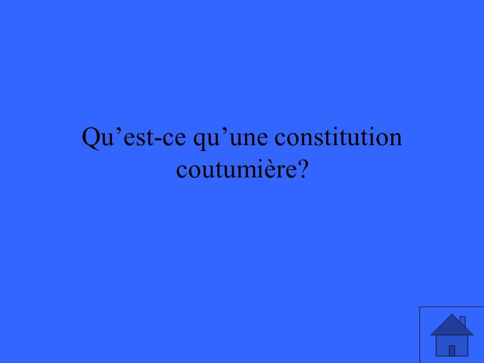 Qu'est-ce qu'une constitution coutumière