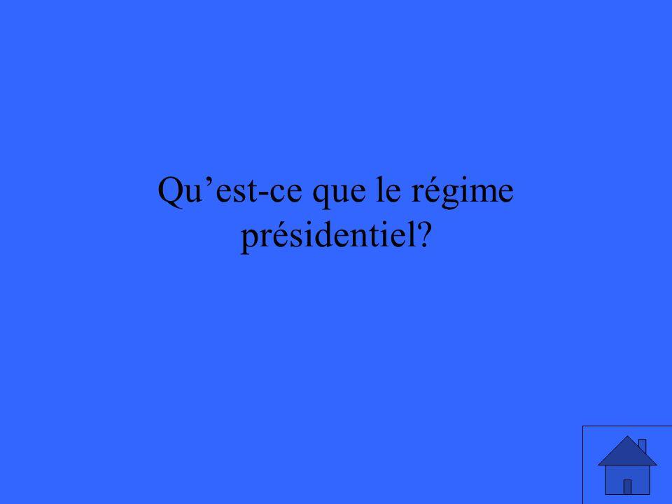 Qu'est-ce que le régime présidentiel