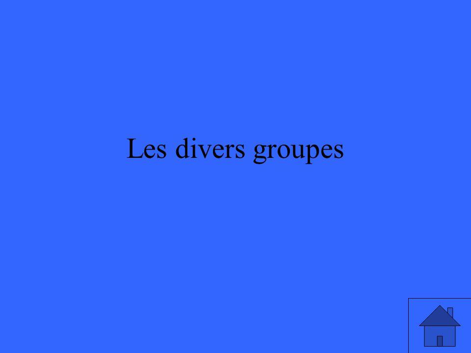 Les divers groupes