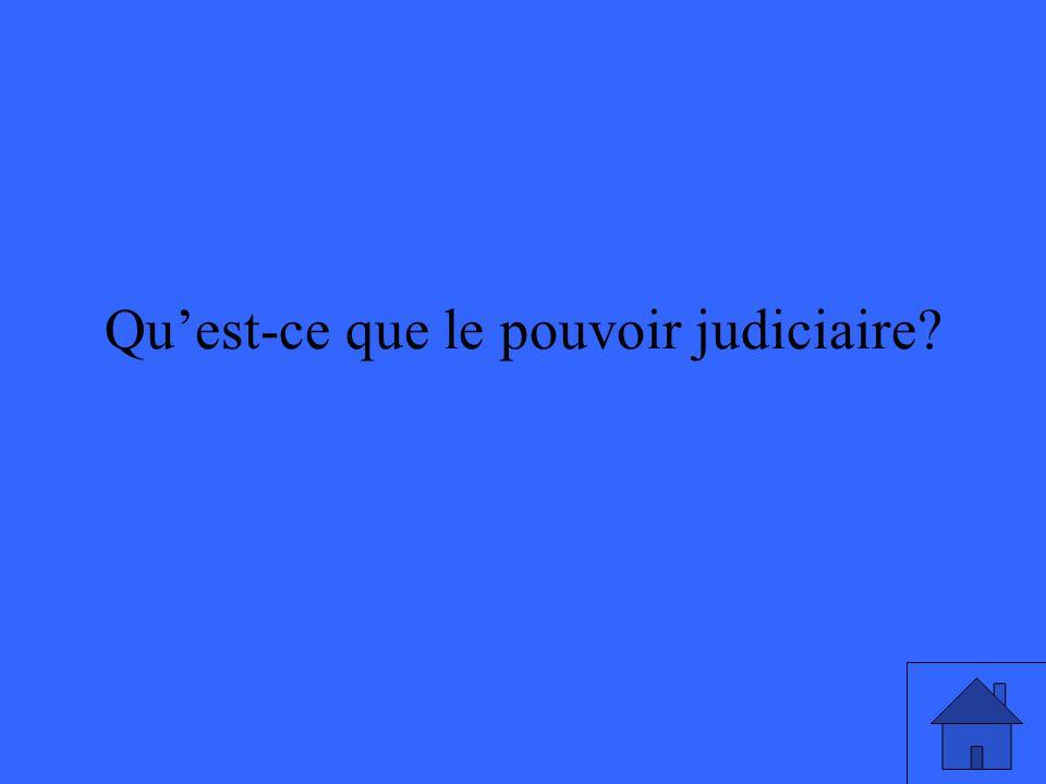Qu'est-ce que le pouvoir judiciaire