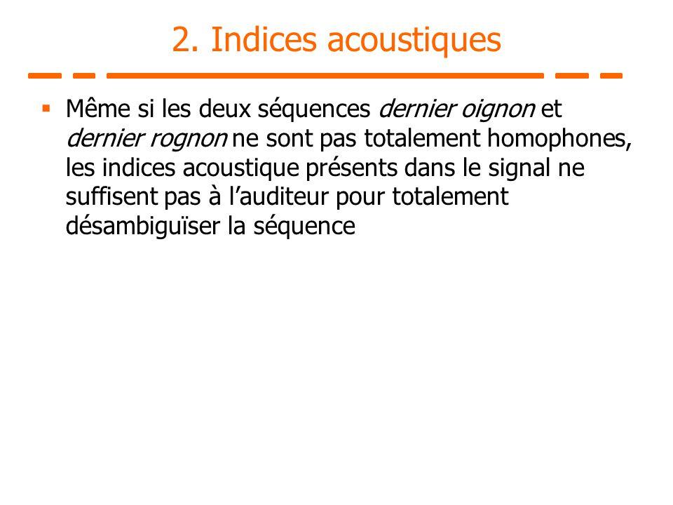 2. Indices acoustiques
