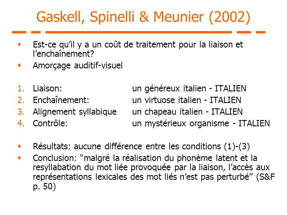 Gaskell, Spinelli & Meunier (2002)
