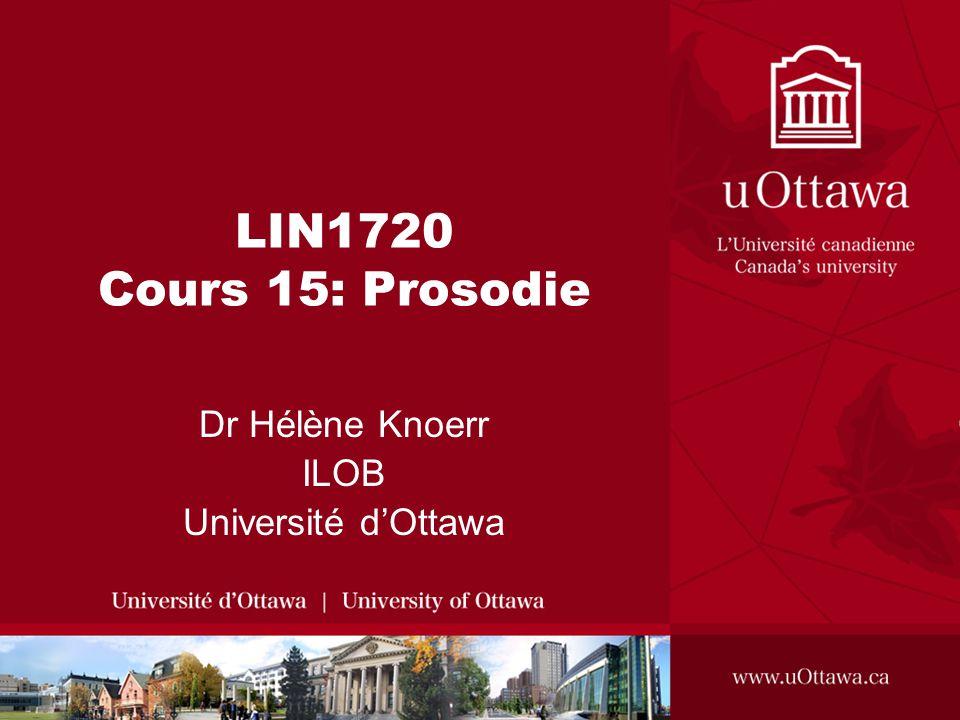 Dr Hélène Knoerr ILOB Université d'Ottawa
