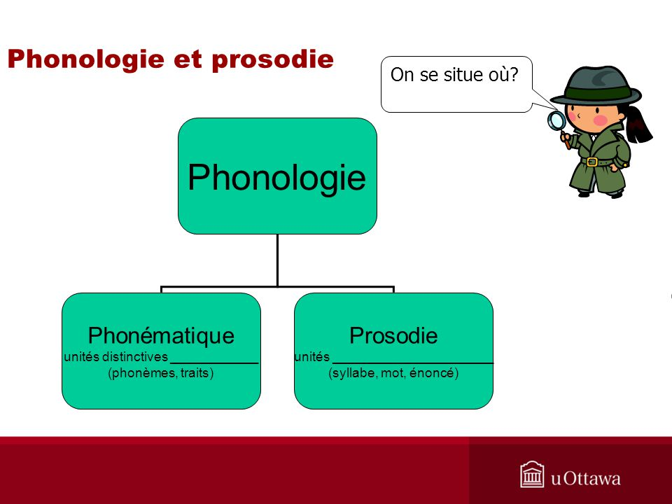 Phonologie et prosodie