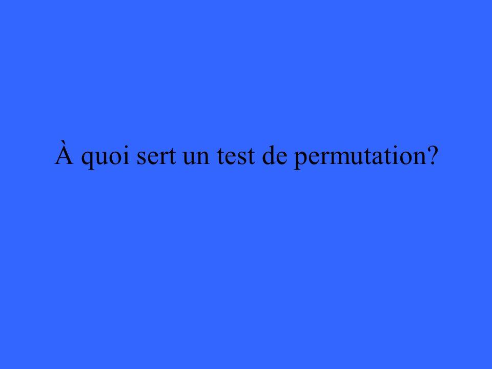 À quoi sert un test de permutation