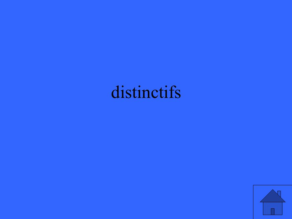 distinctifs