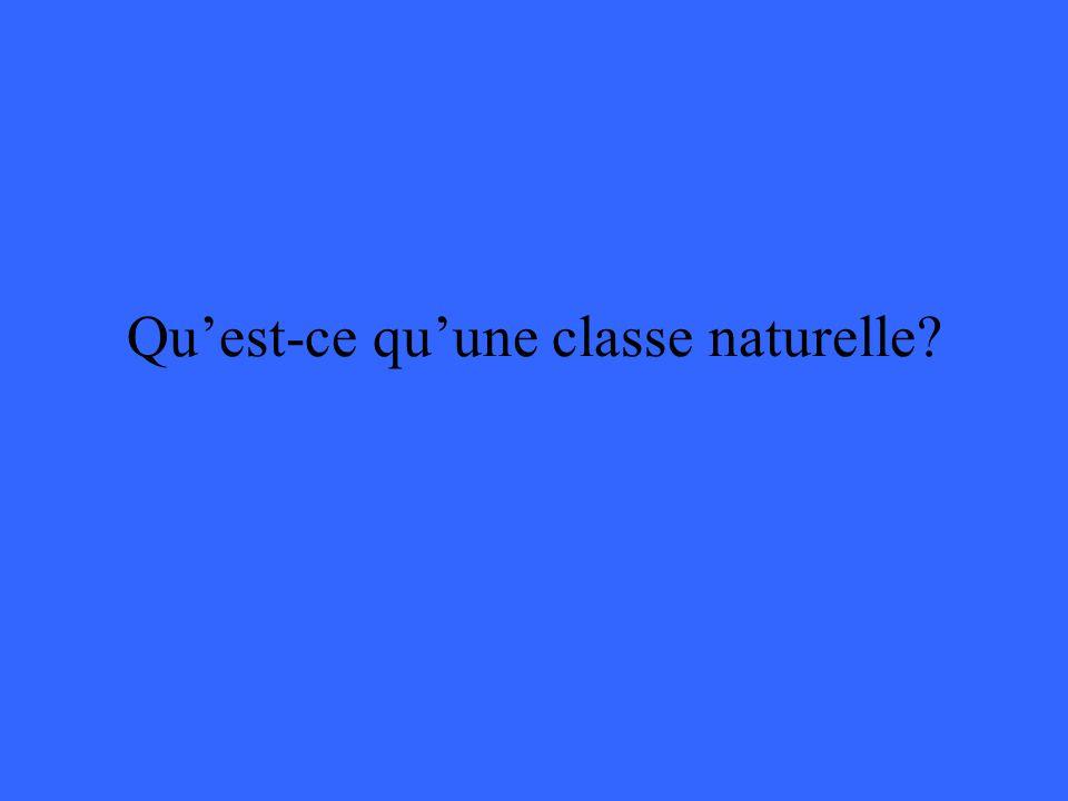 Qu'est-ce qu'une classe naturelle
