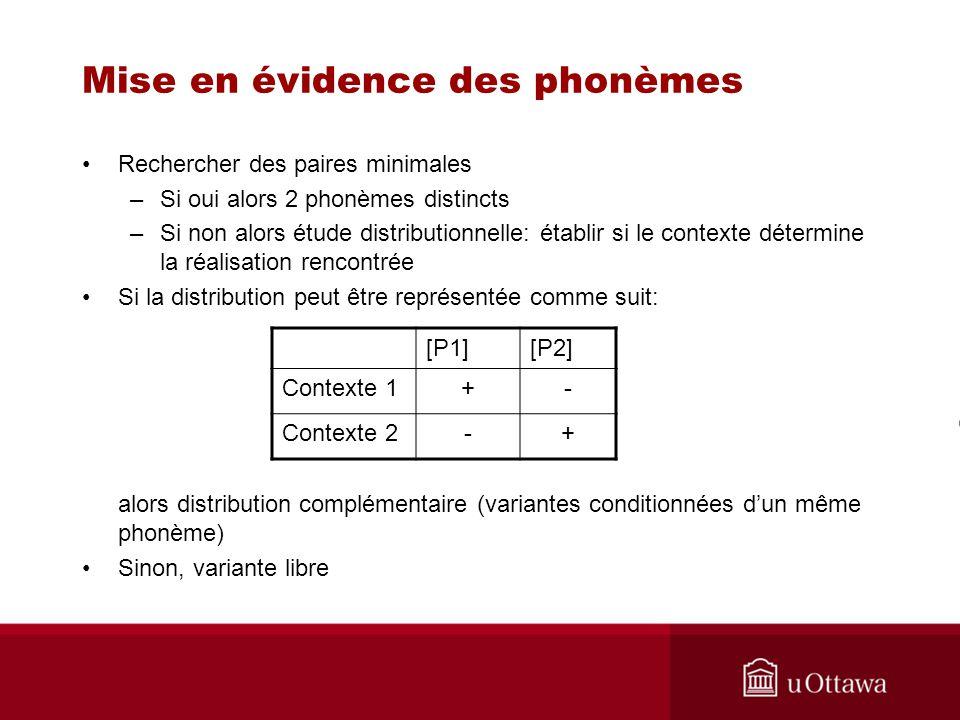 Mise en évidence des phonèmes