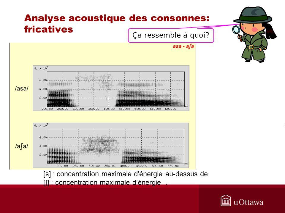 Analyse acoustique des consonnes: fricatives