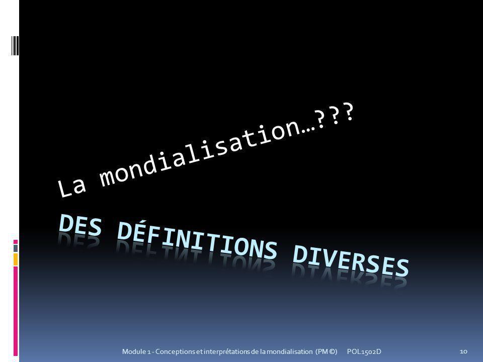 Des définitions diverses