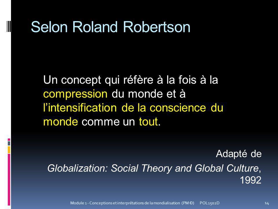 Selon Roland Robertson