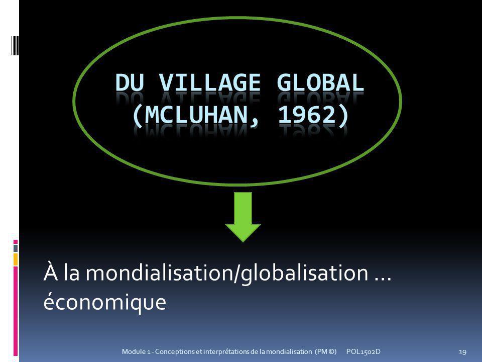Du Village global (McLuhan, 1962)