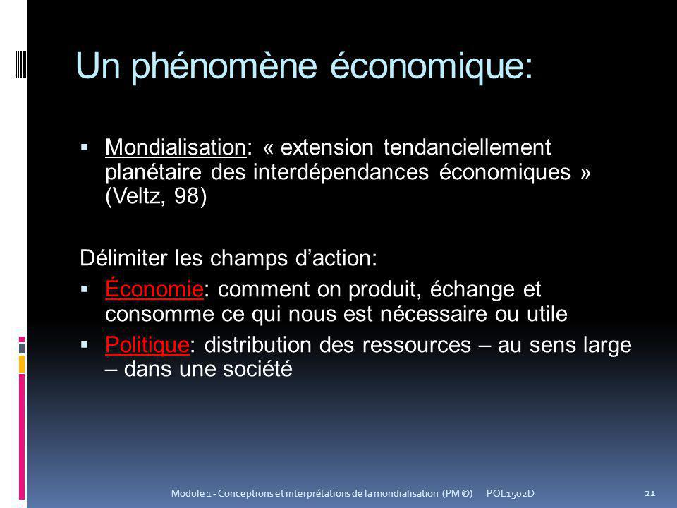 Un phénomène économique: